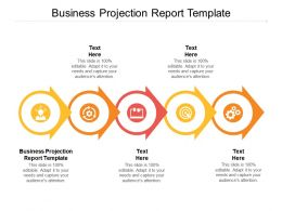 Business Projection Report Template Ppt Powerpoint Presentation Professional Visuals Cpb