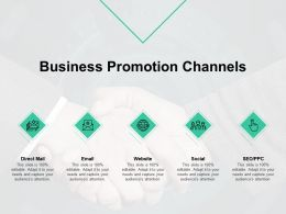 Business Promotion Channels Communication Planning Ppt Powerpoint Presentation Infographics Samples