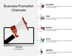 Business Promotion Channels Ppt Powerpoint Presentation Pictures Background
