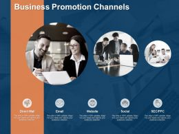 Business Promotion Channels Social Planning Ppt Powerpoint Presentation Styles Vector