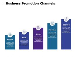 Business Promotion Channels Social Ppt Powerpoint Presentation File Diagrams