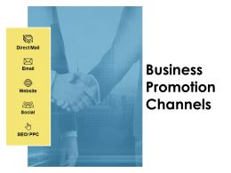 Business Promotion Channels Social Ppt Powerpoint Presentation Gallery Skills
