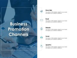 Business Promotion Channels Social Ppt Powerpoint Presentation Icon Designs