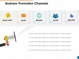 Business Promotion Channels Website Ppt Powerpoint Presentation Diagram Ppt
