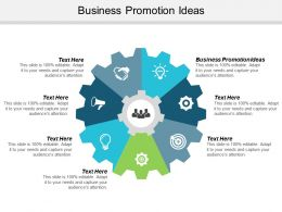 Business Promotion Ideas Ppt Powerpoint Presentation Gallery Display Cpb
