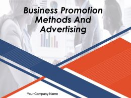 Business Promotion Methods And Advertising Powerpoint Presentation Slides