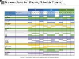 Business Promotion Planning Schedule Covering Campaign Type With Project Goals