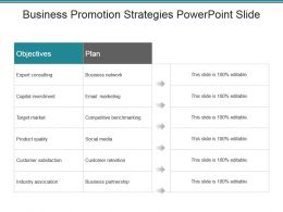 Business Promotion Strategies Powerpoint Slide