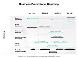 Business Promotional Roadmap Partnership International Ppt Powerpoint Presentation Infographics Tips