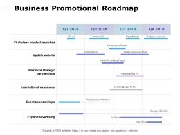 Business Promotional Roadmap Ppt Powerpoint Presentation File Example