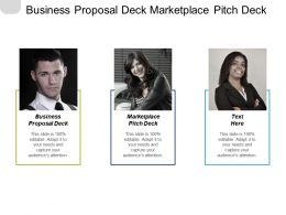 Business Proposal Deck Marketplace Pitch Deck Promotions Management Cpb