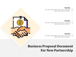 Business Proposal Document For New Partnership