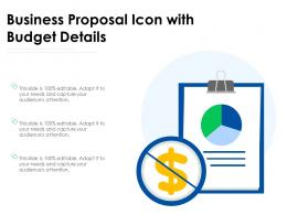 Business Proposal Icon With Budget Details