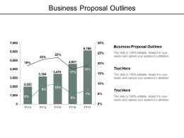Business Proposal Outlines Ppt Powerpoint Presentation Professional Cpb