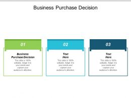 Business Purchase Decision Ppt Powerpoint Presentation Pictures Brochure Cpb