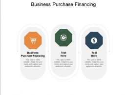 Business Purchase Financing Ppt Powerpoint Presentation Professional Tips Cpb