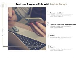 Business Purpose Slide With Laptop Image