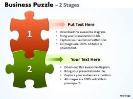 42614172 Style Puzzles Linear 2 Piece Powerpoint Presentation Diagram Infographic Slide