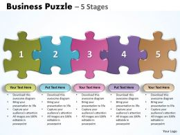 Business Puzzle 5 Stages