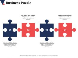 Business Puzzle Advertising Channels Ppt Infographic Template Background Designs
