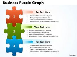 Business Puzzle Graph Powerpoint templates 0812