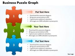 Business Puzzle Graph Powerpoint templates ppt presentation slides 0812