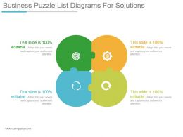 Business Puzzle List Diagrams For Solutions Powerpoint Slide Designs