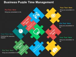 Business Puzzle Time Management Flat Powerpoint Design