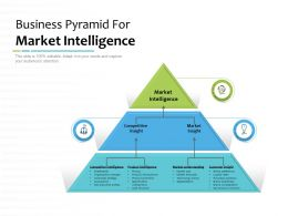 Business Pyramid For Market Intelligence