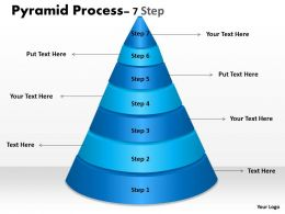 Business Pyramid For Process With 7 Steps