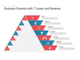 Business Pyramid With 7 Levels And Revenue