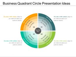 Business Quadrant Circle Presentation Ideas