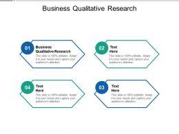 Business Qualitative Research Ppt Powerpoint Presentation Show Portfolio Cpb