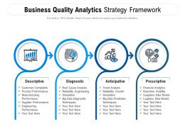 Business Quality Analytics Strategy Framework