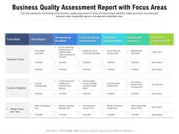 Business Quality Assessment Report With Focus Areas