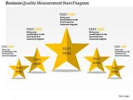 Business Quality Measurement Stars Diagram Flat Powerpoint Design