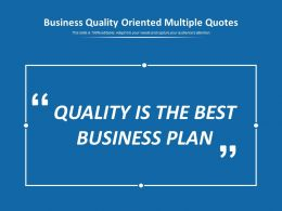 Business Quality Oriented Multiple Quotes