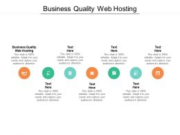 Business Quality Web Hosting Ppt Powerpoint Presentation Summary Introduction Cpb