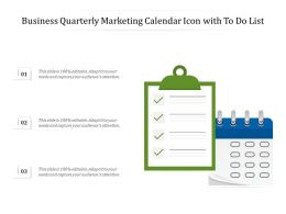 Business Quarterly Marketing Calendar Icon With To Do List