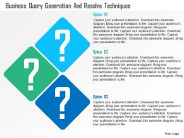 Business Query Generation And Resolve Techniques Flat Powerpoint Design