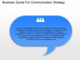 Business Quote For Communication Strategy Powerpoint Template Slide