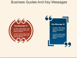 Business Quotes And Key Messages Sample Ppt Presentation