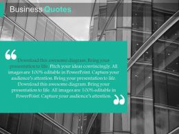 Business Quotes For Analysis Powerpoint Slides