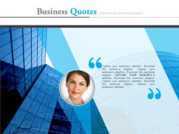 Business Quotes For Company Profile Analysis Powerpoint Slides