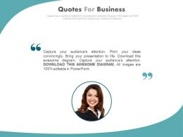 Business Quotes For Employee Profile Management Powerpoint Slides