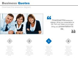 Business Quotes For Team Management Powerpoint Slides