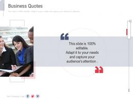 Business Quotes New Service Initiation Plan Ppt Microsoft