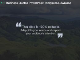 Business Quotes Powerpoint Templates Download