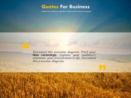 Business Quotes With Light Effect Background Powerpoint Slides