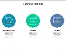 Business Ranking Ppt Powerpoint Presentation Gallery Elements Cpb